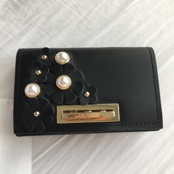34e5b620b408 Zac Posen Earthette Floral Card Case on Chain